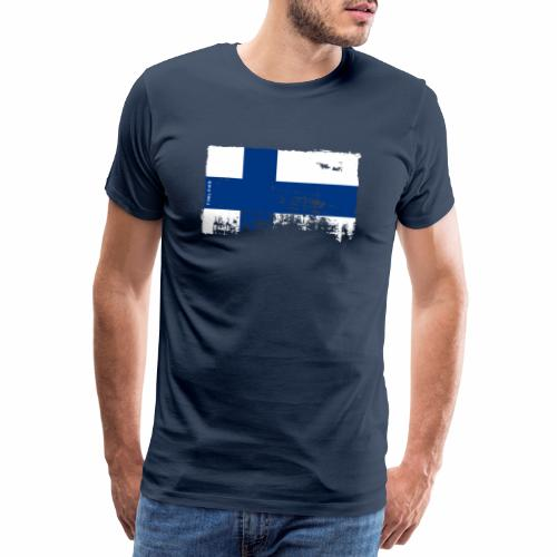 Suomen lippu, Finnish flag T-shirts 151 Products - Miesten premium t-paita