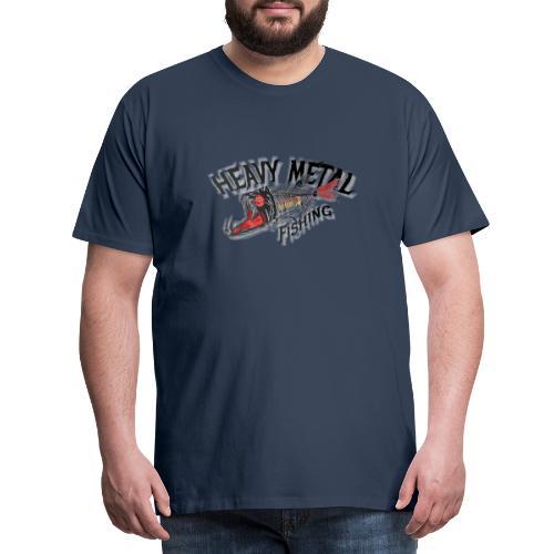 heavy metal red black de - Männer Premium T-Shirt
