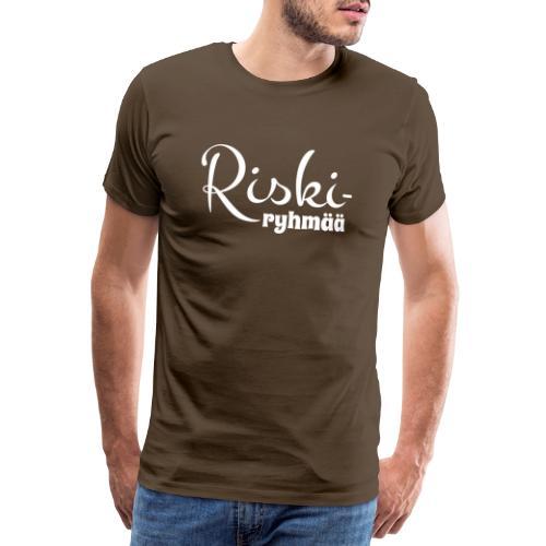 Riskiryhmää, valkoinen - Miesten premium t-paita