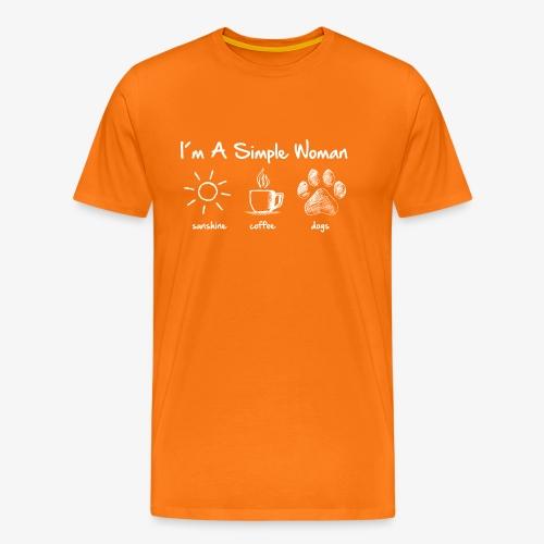 simple woman dog white - Männer Premium T-Shirt