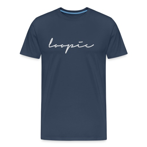 Loopie_logo_WHITE - Men's Premium T-Shirt
