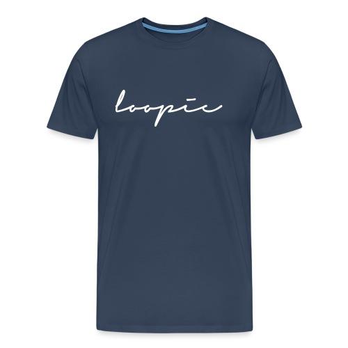 Loopie_logo_WHITE - Men's Premium T-Shirt