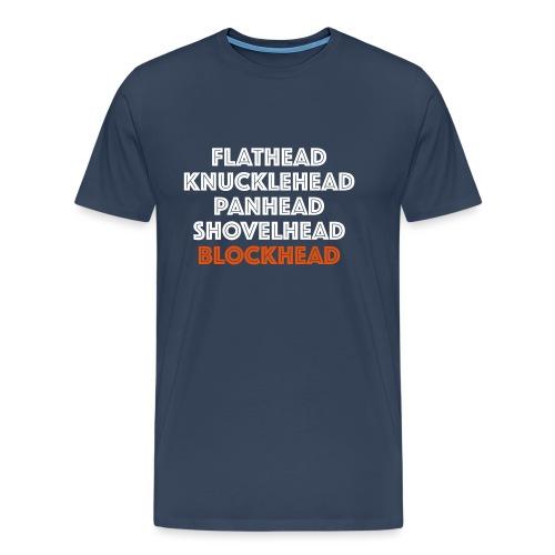 Blockhead 2C - Mannen Premium T-shirt
