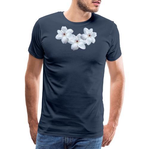 Jalokärhöt, valkoinen - Miesten premium t-paita
