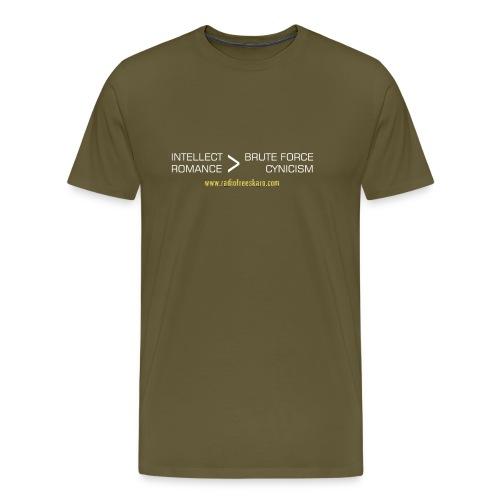 shirt intellect white - Men's Premium T-Shirt