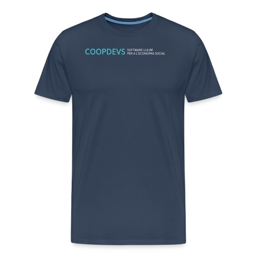 ccopdevs horizontal blanco png - Camiseta premium hombre