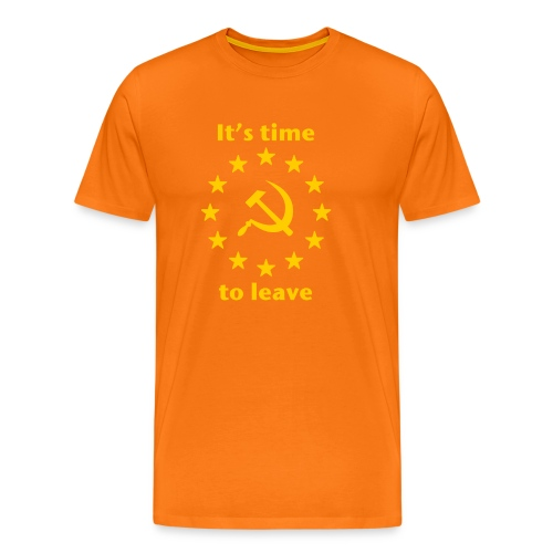 eu itshammertime 5 yellow - Men's Premium T-Shirt