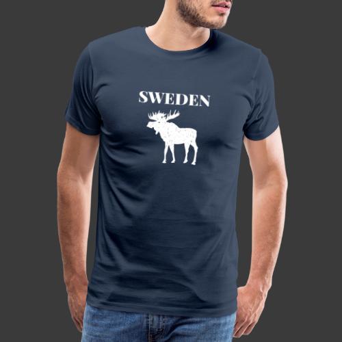 Sweden Moose Sverige - Männer Premium T-Shirt
