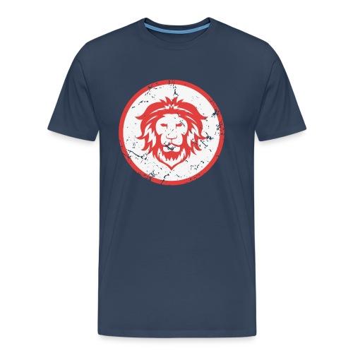 Löwe Vintage Symbol - Männer Premium T-Shirt