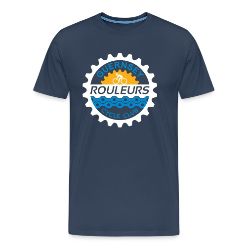 Guernsey Rouleurs Logo Reversed - Men's Premium T-Shirt
