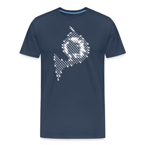 Waldhorn fuers Tshirt pixelig weiss verschwommen 1 - Männer Premium T-Shirt