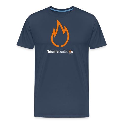 triunfacontublogcom logo fire camiseta 9 dominio - Camiseta premium hombre