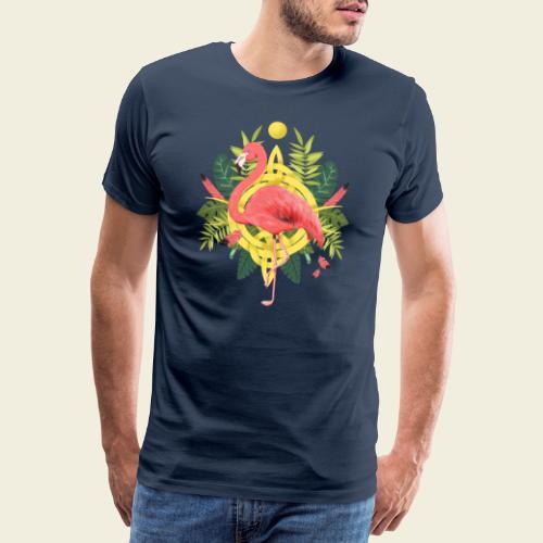 Flamingo-Design - Männer Premium T-Shirt