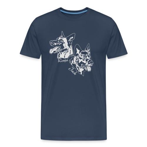 ronja und jack 13 weiss - Männer Premium T-Shirt