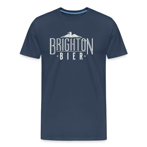 brighton bier logo white - Men's Premium T-Shirt