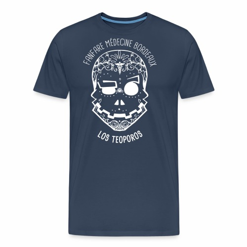 LOGO Calavera Positif Blanc - T-shirt Premium Homme