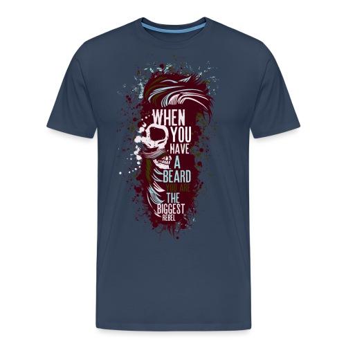 tete de mort crane hipster skull citation humour b - T-shirt Premium Homme