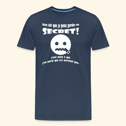 garder un secret - T-shirt Premium Homme