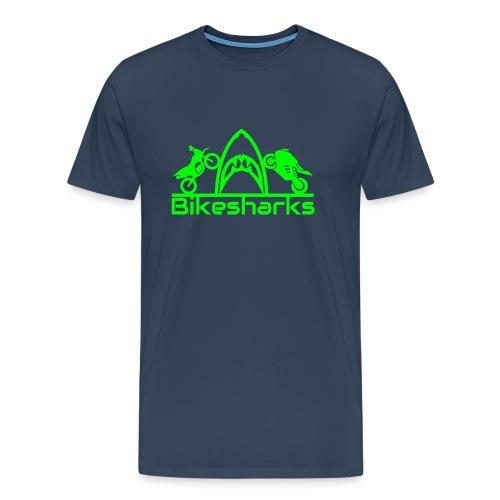 Bikesharkslogo Grün - Männer Premium T-Shirt