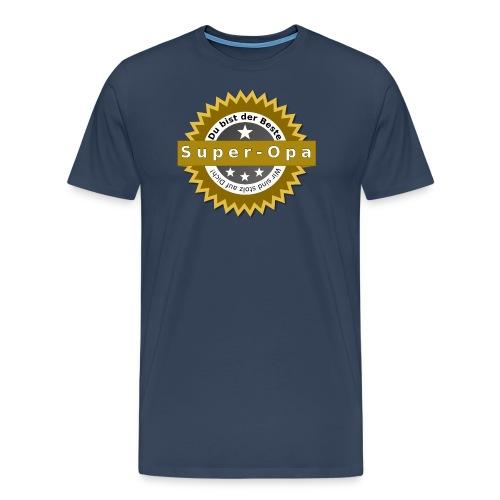 Badge Super Opa - Männer Premium T-Shirt