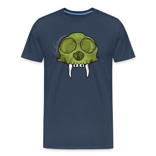 GreenMonkeySkull png - Mannen Premium T-shirt