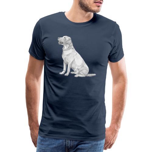 labrador Retriever Yellow sit - Herre premium T-shirt