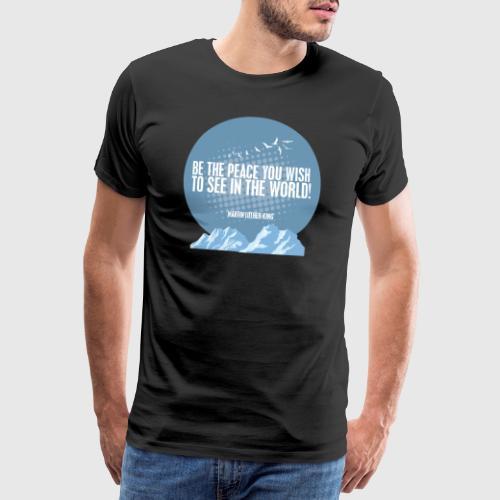 MLK2 png - Herre premium T-shirt