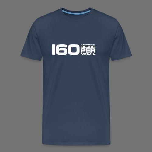 160 BPM (hvid lang) - Herre premium T-shirt