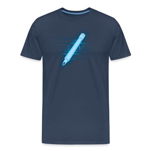 blaues licht - Männer Premium T-Shirt
