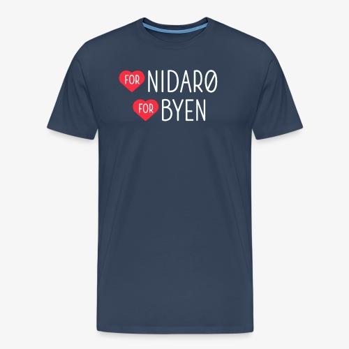Hjerte for Nidarø - Hjerte for Byen - Premium T-skjorte for menn