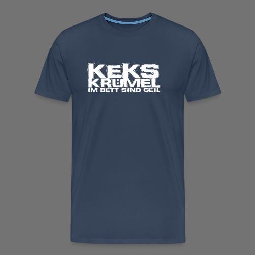 Kekskrümel im Bett sind geil (weiss) - Männer Premium T-Shirt