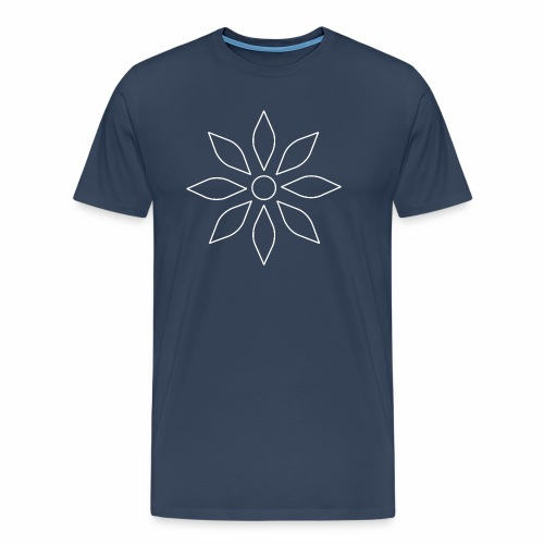Kaleidoscope Sunflower white - Männer Premium T-Shirt