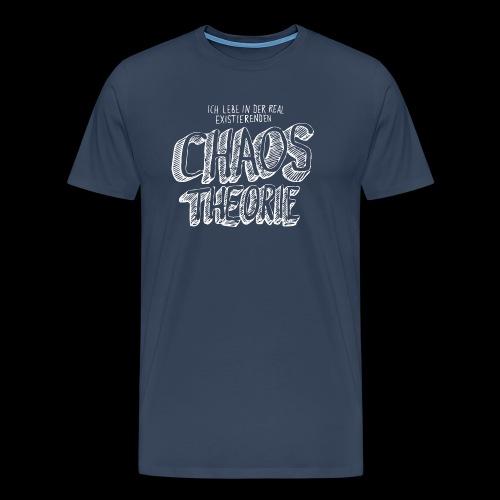 Chaos Theory (valkoinen) - Miesten premium t-paita