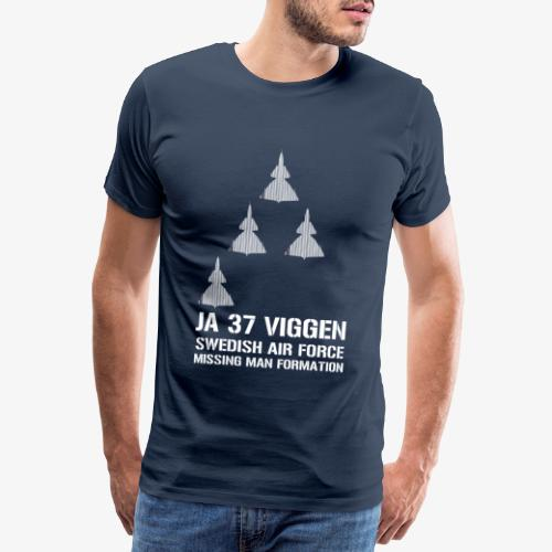 JA 37 Viggen - Missing Man Formation - Premium-T-shirt herr