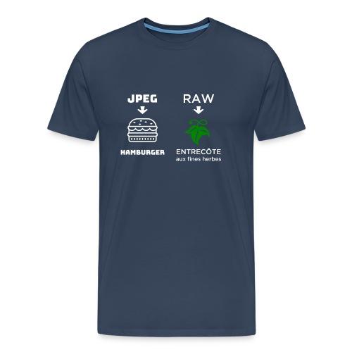 JPEG vs RAW - Camiseta premium hombre