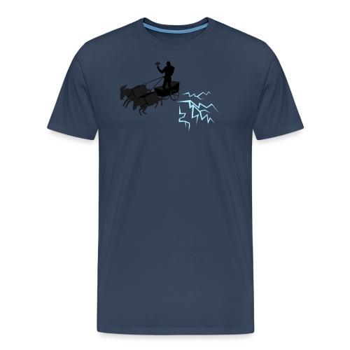 Åktor blå - Premium-T-shirt herr