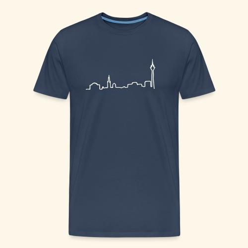 skyline duesseldorf - Männer Premium T-Shirt