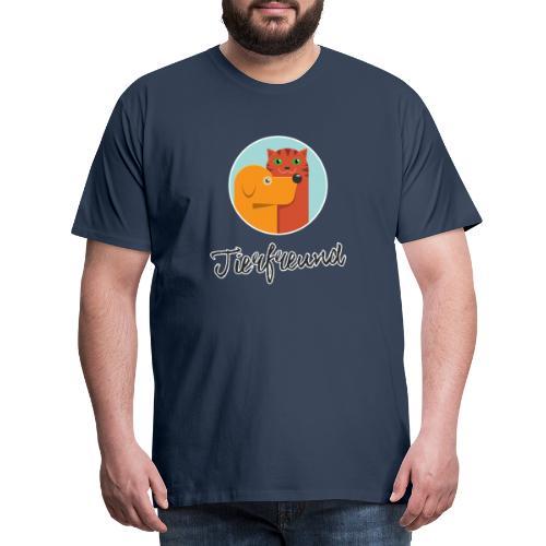 Tierfreund mit Schriftzug - Männer Premium T-Shirt