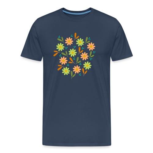 Blumen Muster - Männer Premium T-Shirt