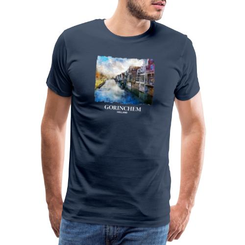 Watercolor painting Appeldijk Gorinchem - Mannen Premium T-shirt