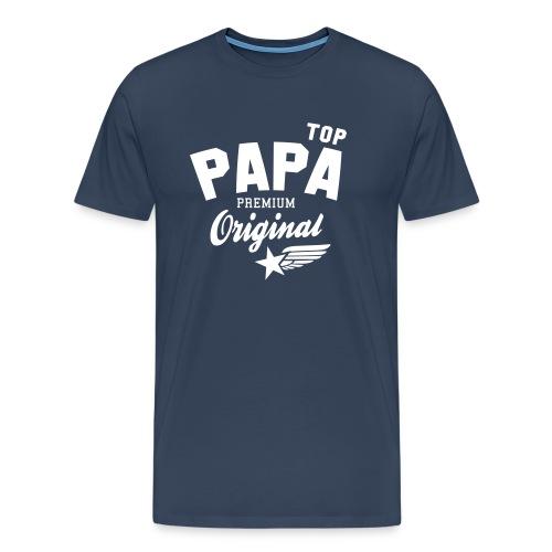Original TOP PAPA - Premium Vater Design - Männer Premium T-Shirt