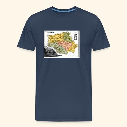 Vieille Carte du Gers - T-shirt Premium Homme