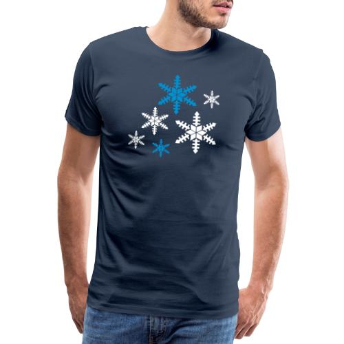Schneeflocken - Männer Premium T-Shirt