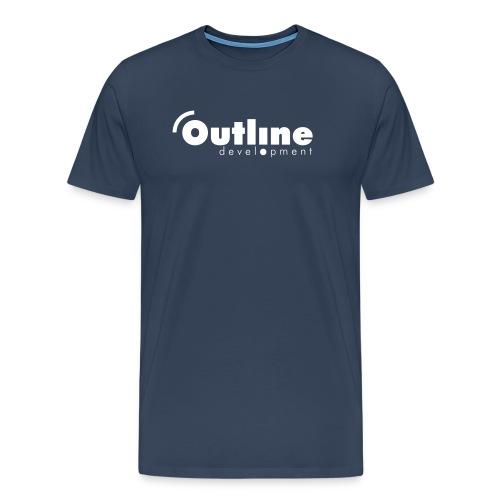 outline logo simple - Männer Premium T-Shirt