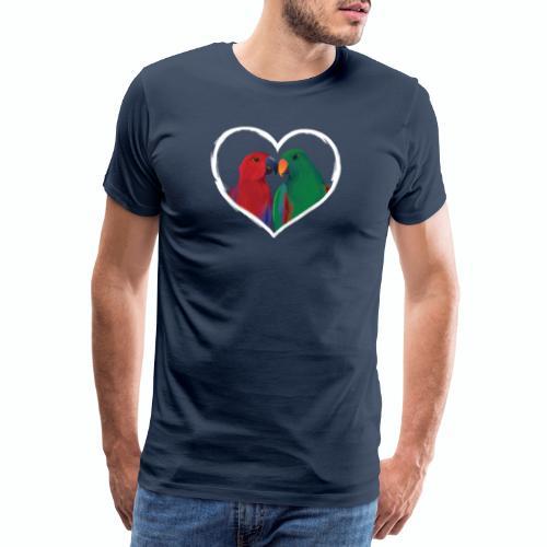 parrots heart - Men's Premium T-Shirt