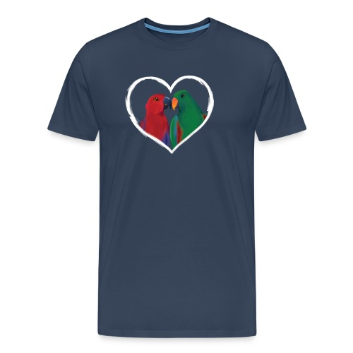 parrots heart - Men's Premium T-Shirt