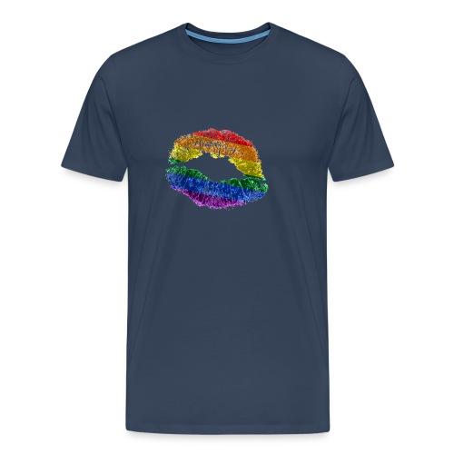 Regenbogenkuss - Männer Premium T-Shirt
