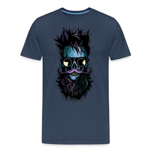 tete de mort lunette hipster crane skull soleil ba - T-shirt Premium Homme