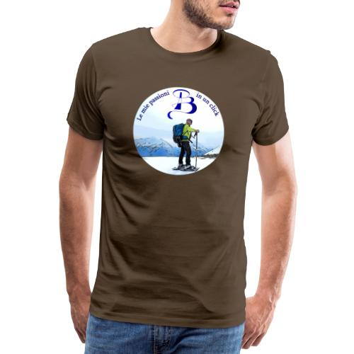 Logo cartone ciaspole - Maglietta Premium da uomo
