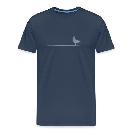 Möwe auf dem Strich - Männer Premium T-Shirt